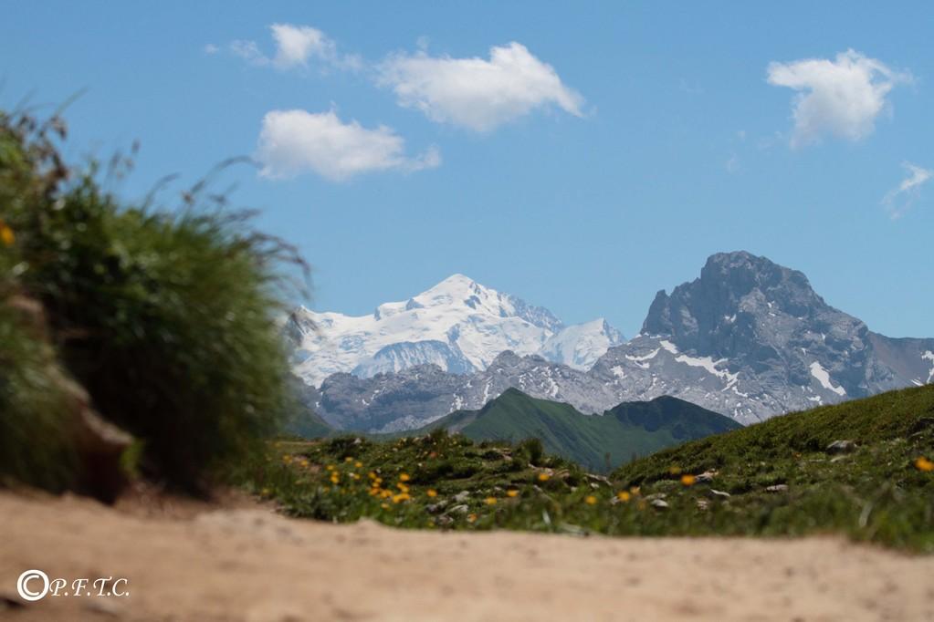 Mont Blanc vu du lac de Peyre