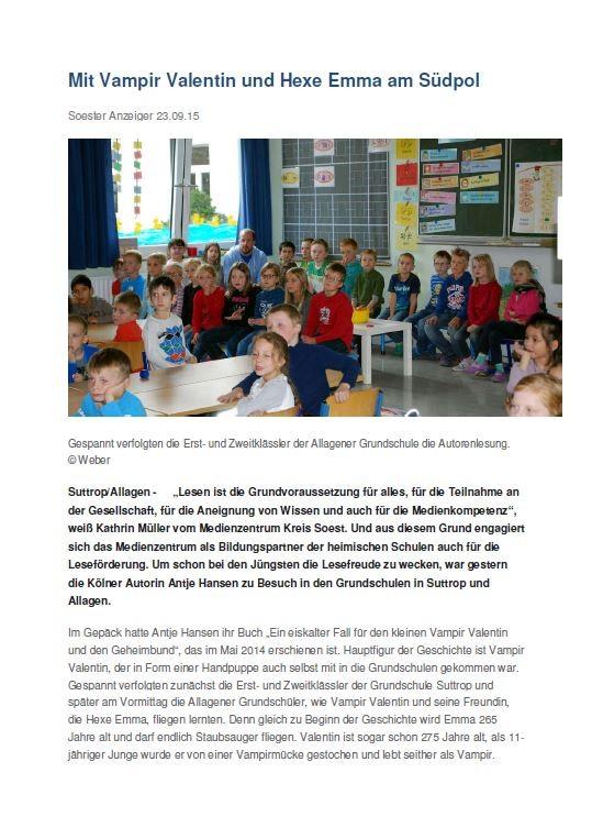 Soester Anzeiger 1 - September 2015