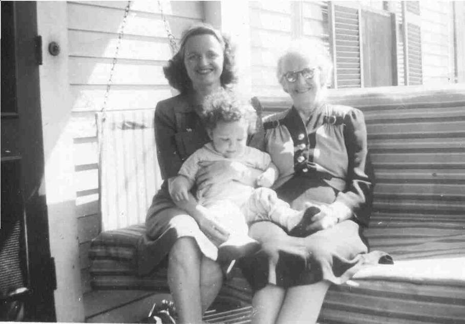 Three generations - with my mother and grandmother