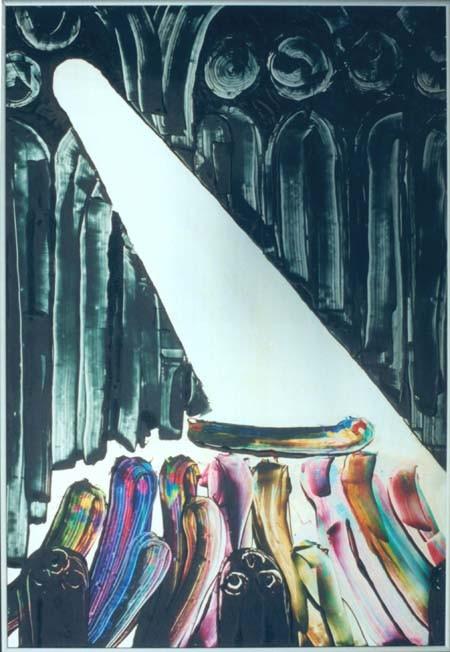 """selon """"Owen Meany"""" by John Irving  encre d'imprimerie sur aluminium"""