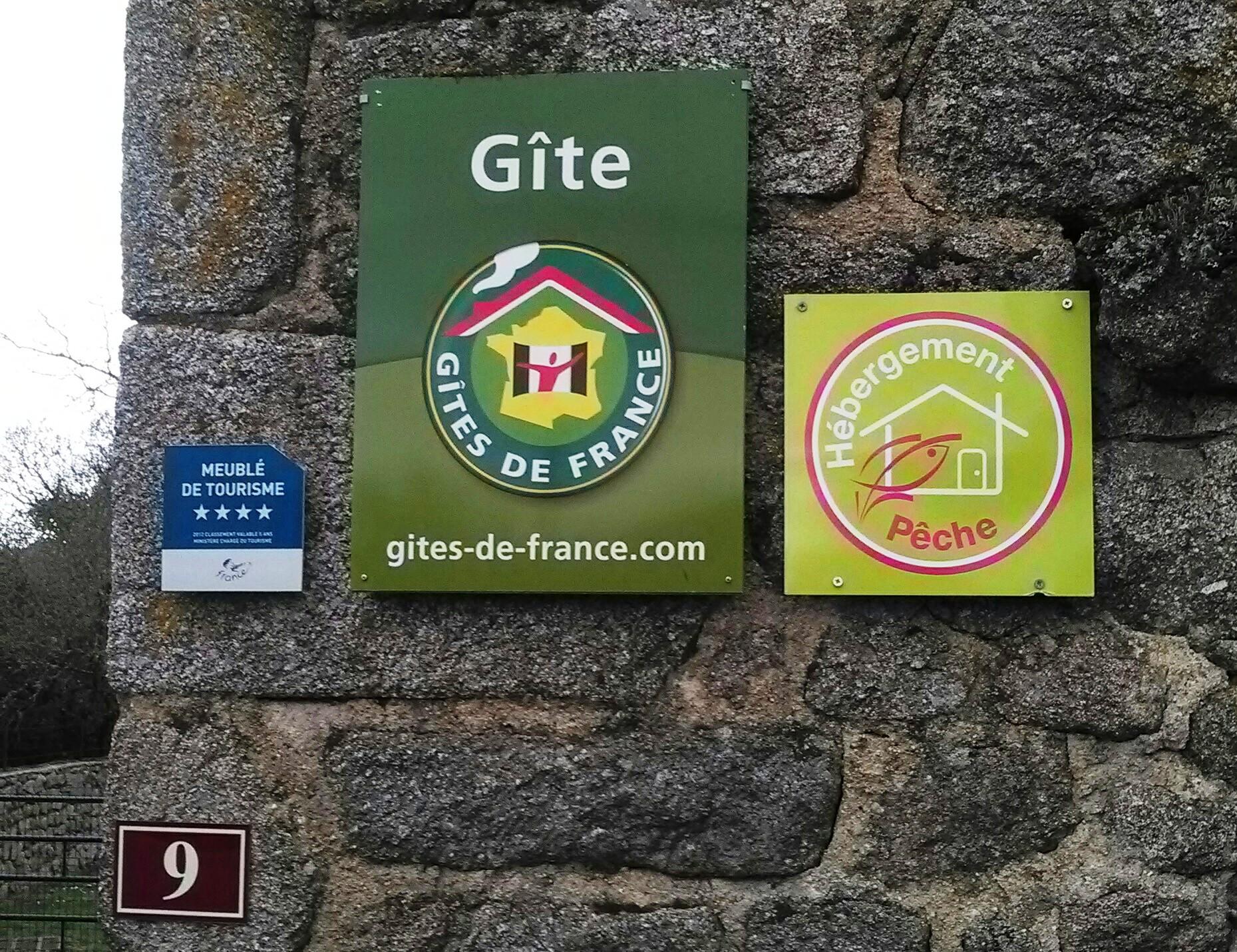 Mes propriétaires  m'on fait classé Meublé de tourisme 4*,Gite rural 3 épis,Maison écogestes,hébergement pêche.