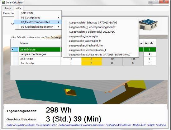 Die Software - Hybrid-Solar-Home-System