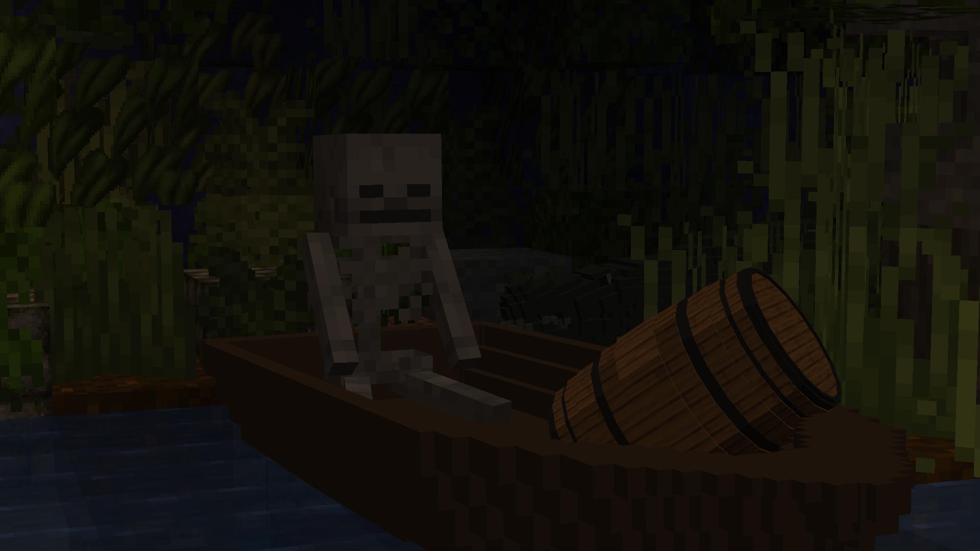 C'est pas anodin un squelette sur un bateau..