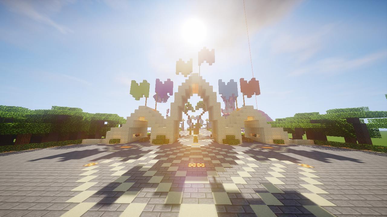 TikiLand : Map Parc d'attraction sur Minecraft (1.16.1)