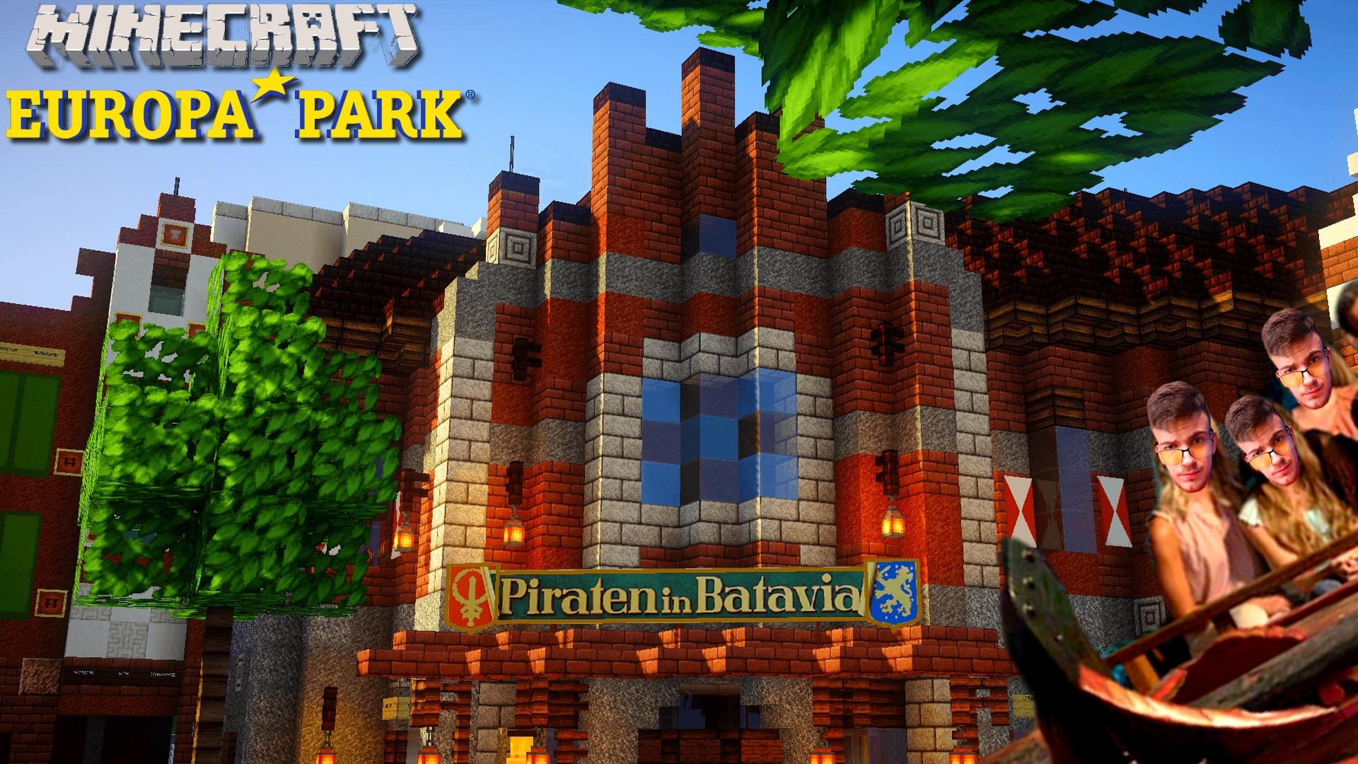 """ Pirates de Batavia "" construit sur Minecraft : EuropaPark-Minecraft"