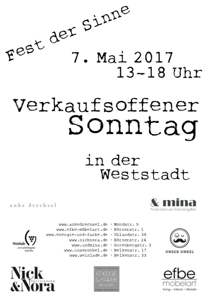 Fest der Sinne - Sonntag, 7. Mai 2017