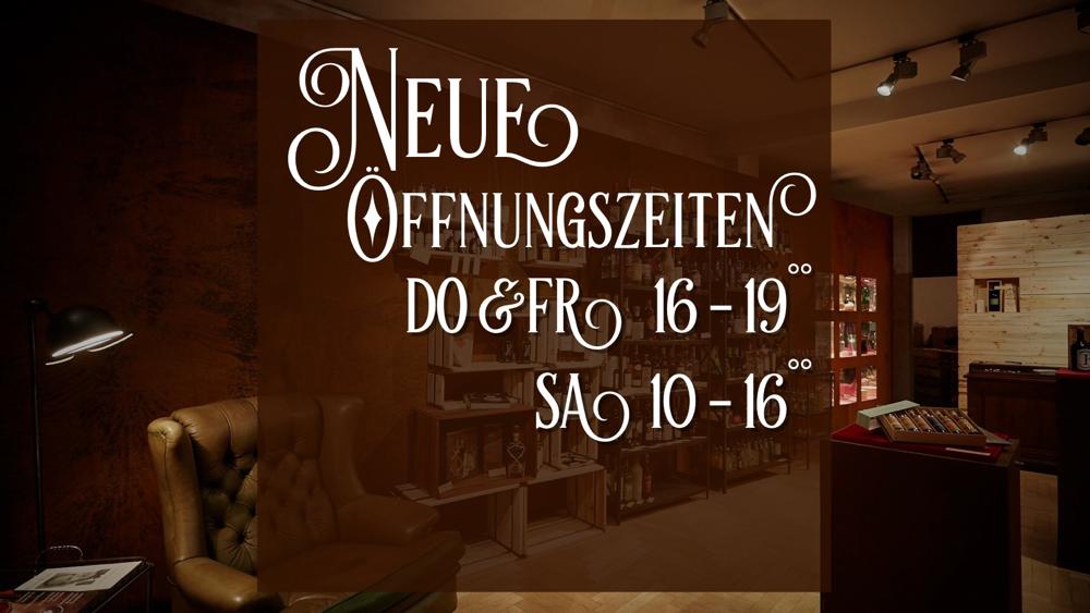 Neue Öffnungszeiten: Do+Fr 16-19 Uhr / Sa 10-16 Uhr