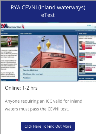 RYA CEVNI Inland Waterways eTest