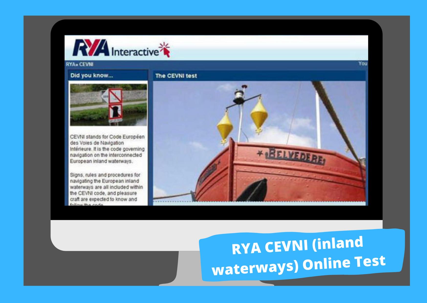 rya cevni test inland waterways test