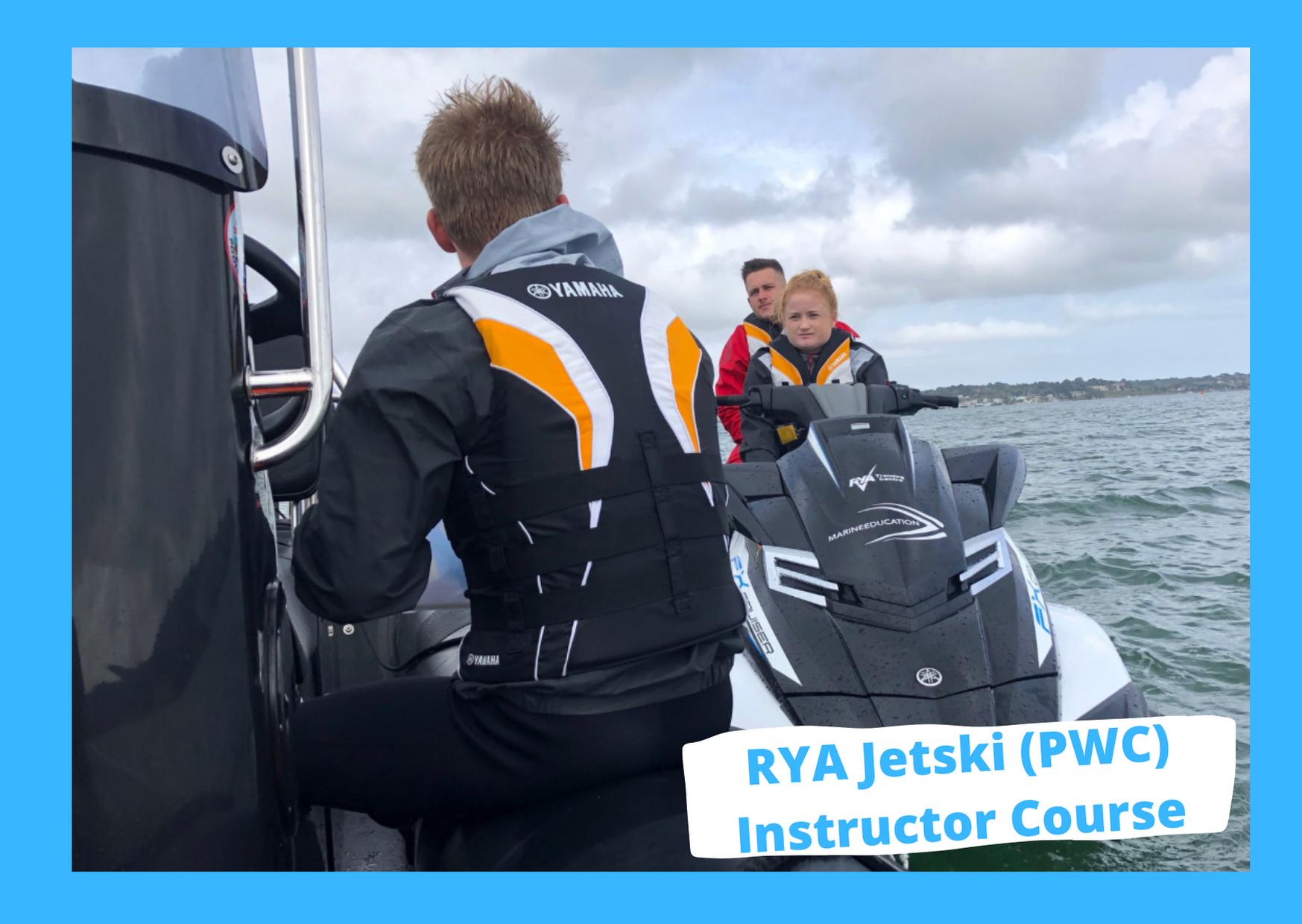 rya jetski pwc instructor course