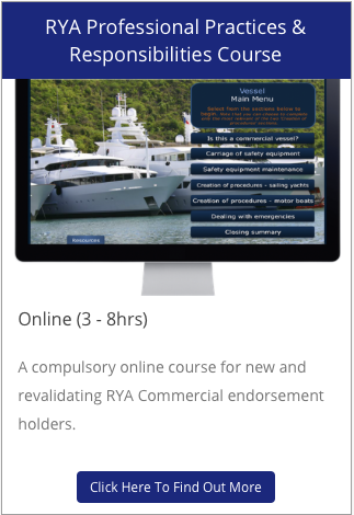 RYA PPR Professional Practices & Responsibilities Online Course