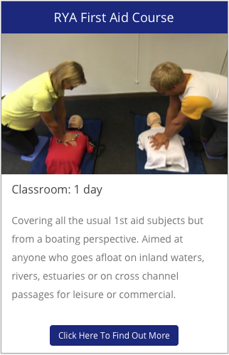 rya first aid course for RYA instrutors