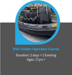 RYA Tender Operator Course, Poole