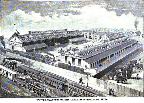 1886年「グレート・バーナム・ロンドン公演の冬季四半期」。
