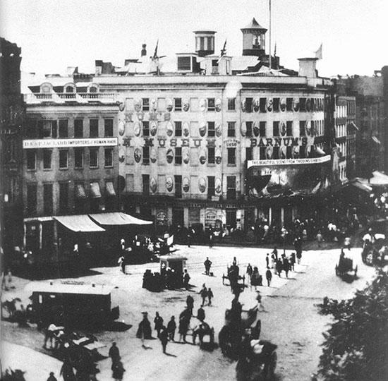 1858年の「バーナムのアメリカ博物館」外観