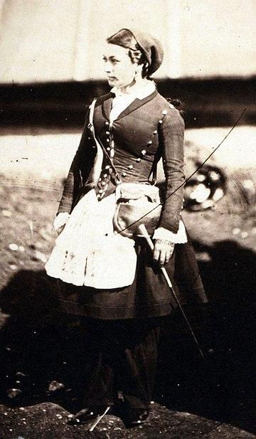 クリミア戦争のヴィヴァンディエール。1855年