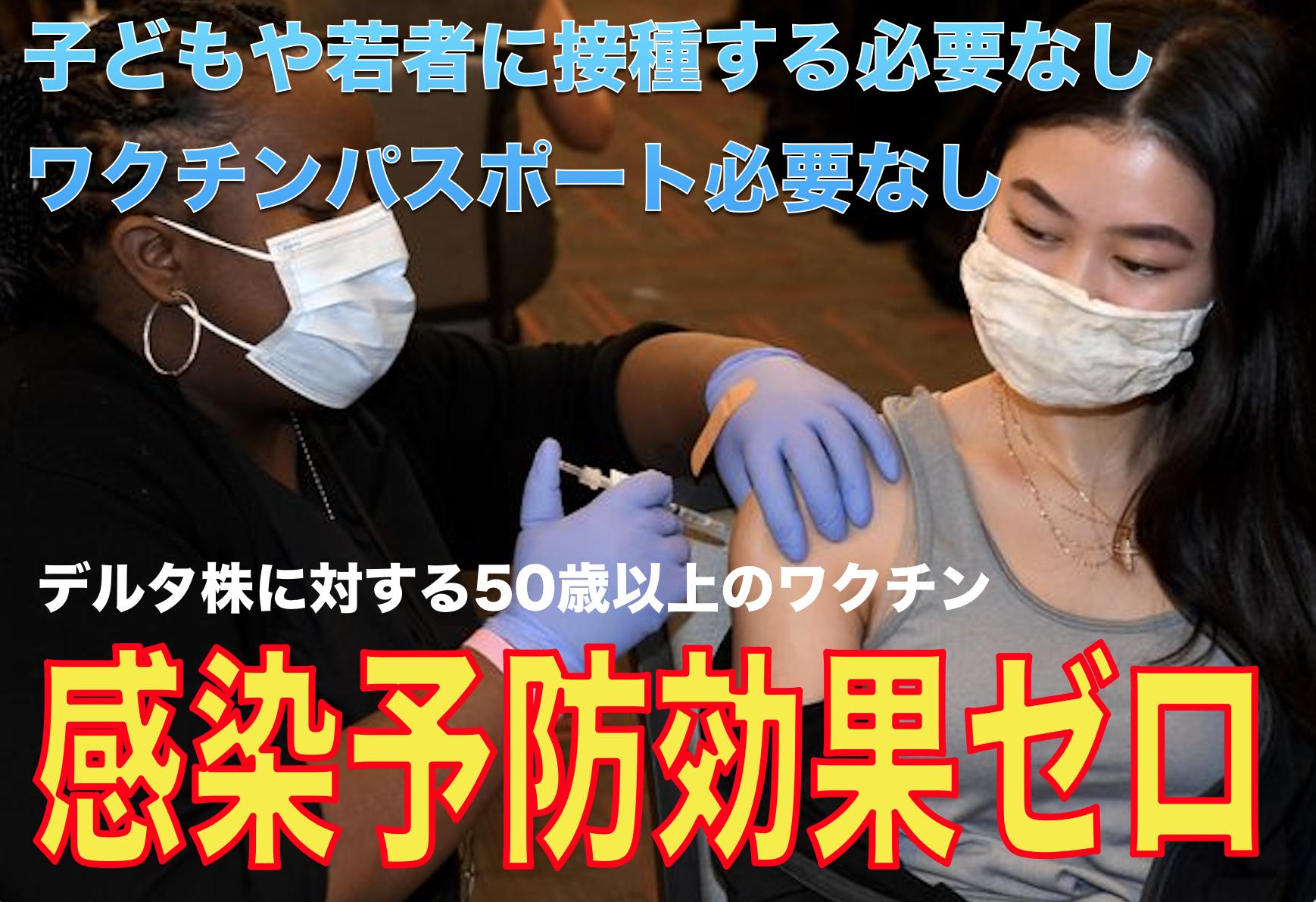 【新型コロナの真相】デルタ株に対するワクチン予防効果はゼロ