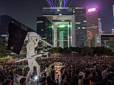 民主主義女神像「レディ・リバティー・香港」