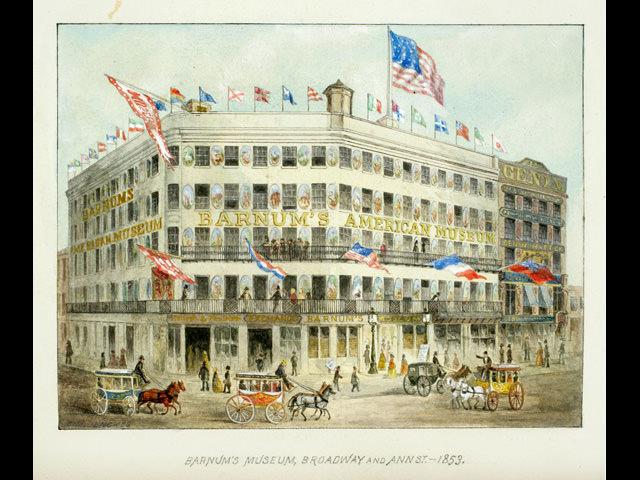 「バーナムのアメリカ博物館」正面。1853年頃。
