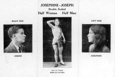 ジョセフィーン・ジョセフの紹介写真、1935年頃。