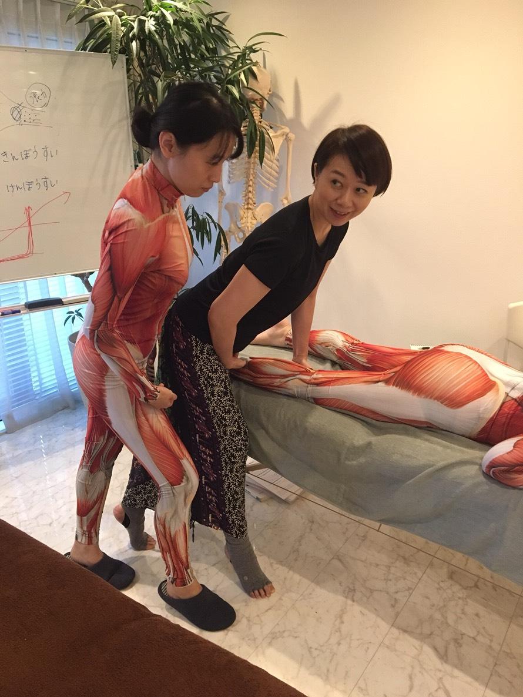 筋肉スーツで講習(2018年6月ARTQinstitute)