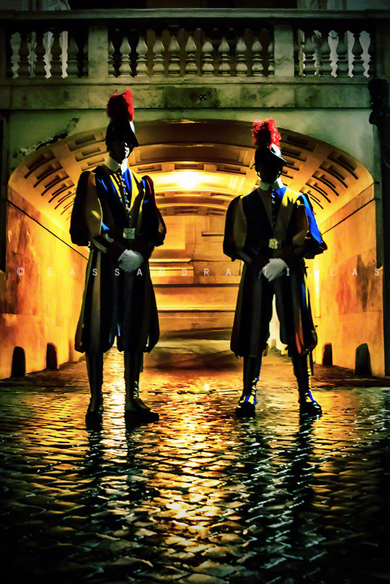 Ok, ok, I know this isn't technically *in* Switzerland, but the Pontifical Swiss Guards in Vatican City are about as Swiss as you get. They have done their military service, are Catholic, and...are single and really nice guys (I can vouch. Ladies!).