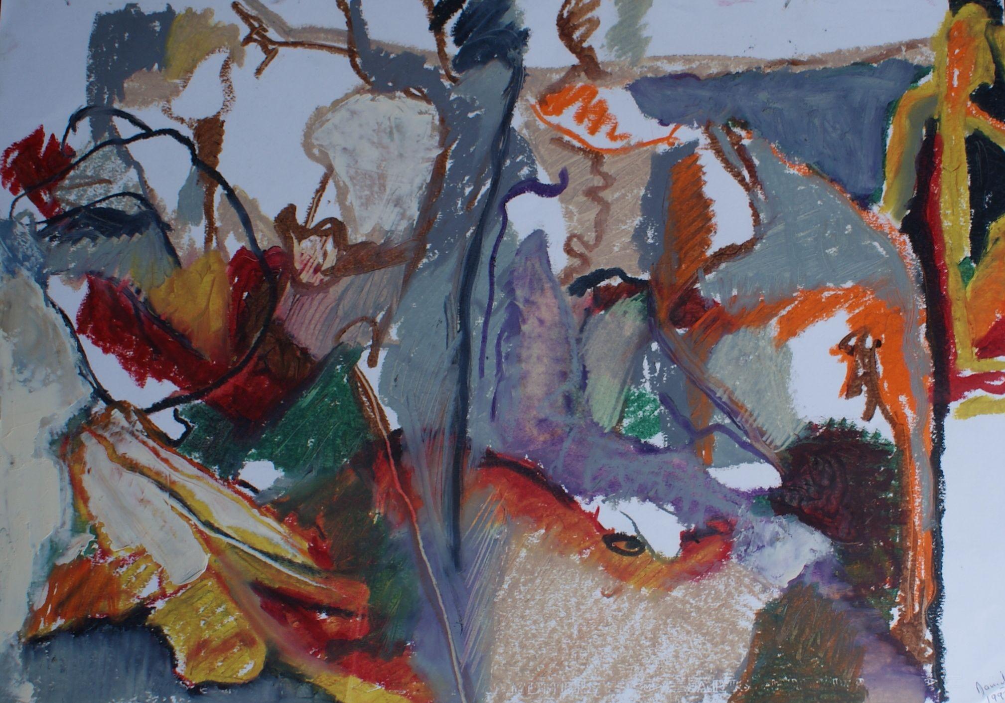 Stick de peinture à l'huile 45x60cm