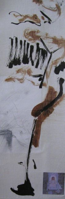 Rouleaux encre et aquarelle  25x150cm