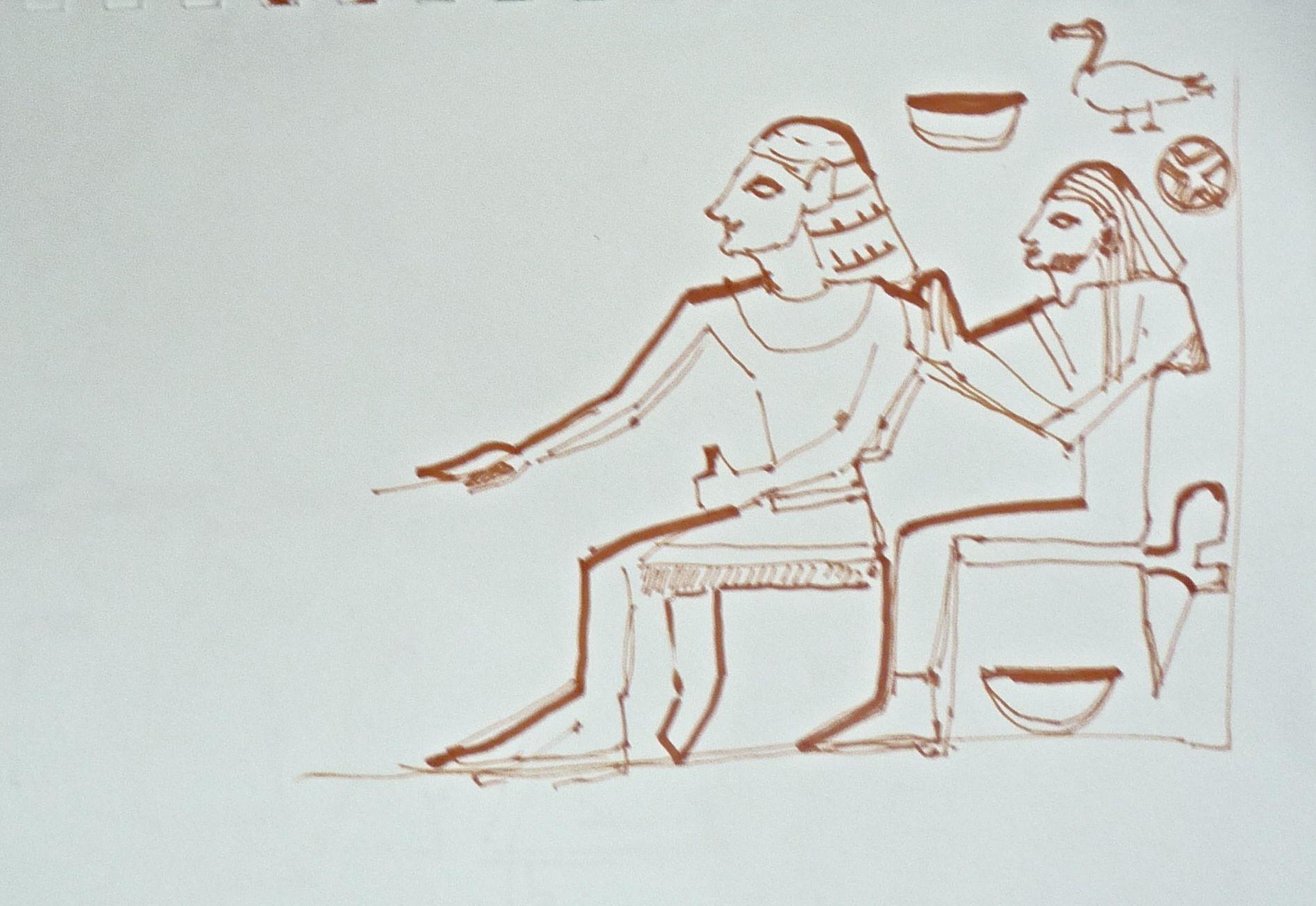 Louvre art égyptien.