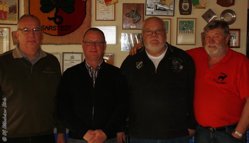 vlnr: Heinz-Erich Löhr, Uwe Krachudel, Jörg von Storren, Daniel Aßmann