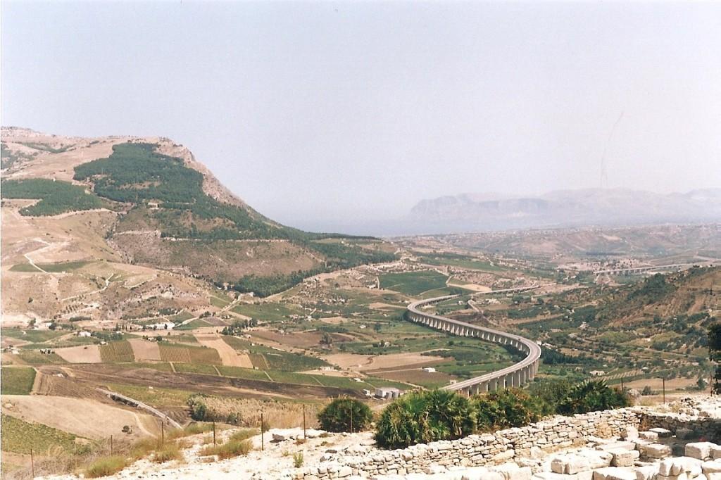 Panorama dall'alto di Segesta