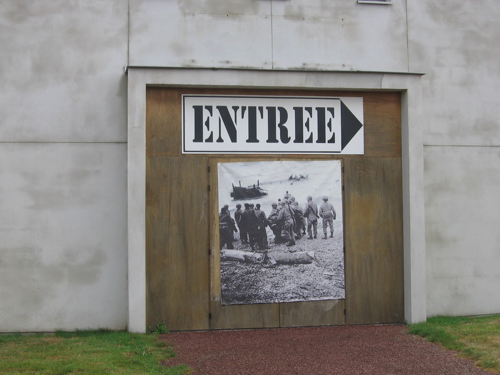 Entrata museo dello sbarco in Normandia