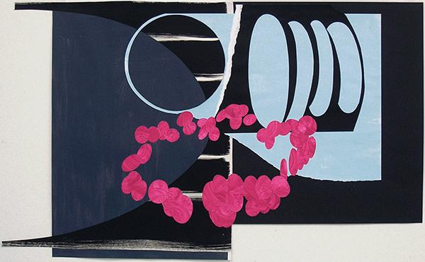 Kleeulme 12, 2008, Acryl auf Papier, 98 x 58 cm