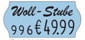 Etikett 26x12 mit Welle, mit Logo-Druck, permanent-haftend bedruckt mit 8-stelligem Preisauszeichner