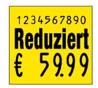 Preisetikett 29x28 zur Reduzierung mit großem Preisdruck