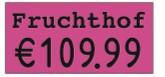 Rechteck-Etikett 26x12, passend für contact premium 626
