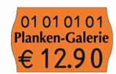 Preisetikett 26x16, passend für Meto Eagle M oder Meto Pro Line M oder contact M oder Blitz und Jolly
