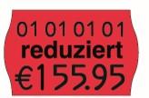 Preisetikett 26x16, leucht-rot für Reduzierung, passend für Meto und contact M Handauszeichner