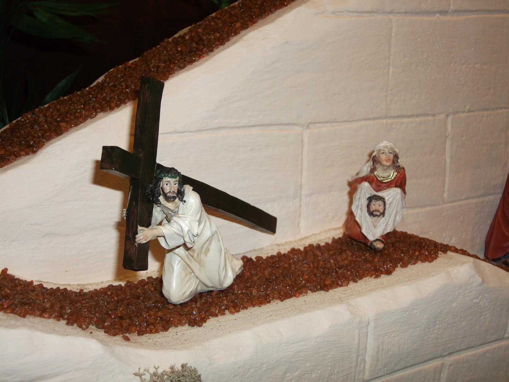 Veronika reicht Jesus das Schweißtuch