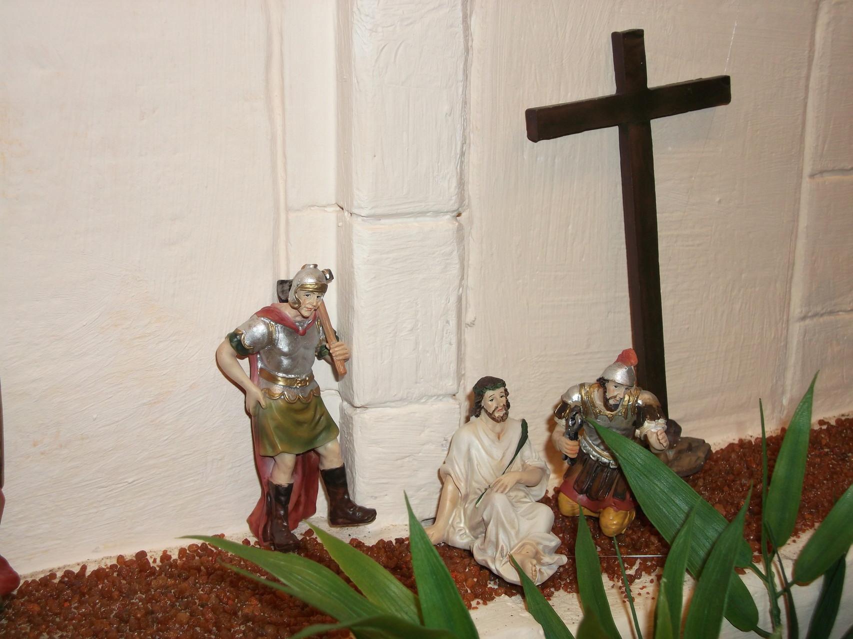 Jesus nimmt das Kreuz auf sich