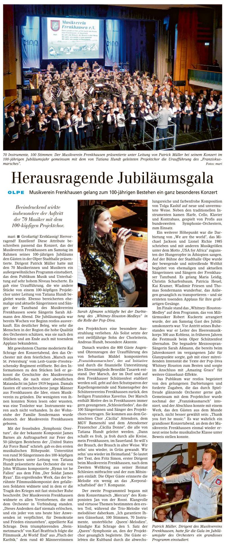Siegener Zeitung, 25. März 2019
