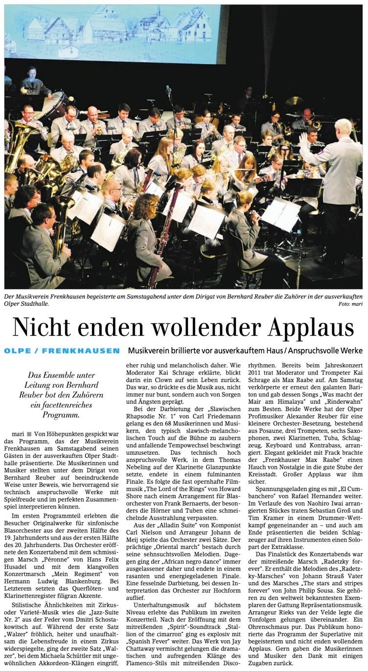 Siegener Zeitung, 25. März 2014
