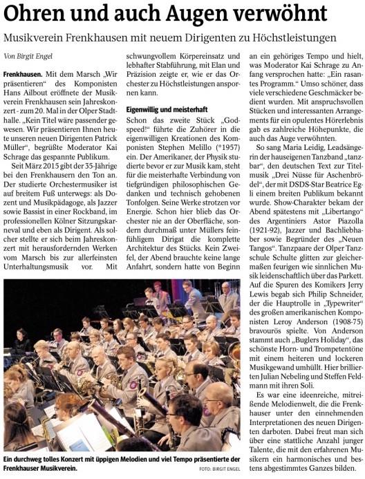 Westfalenpost, 09. März 2016