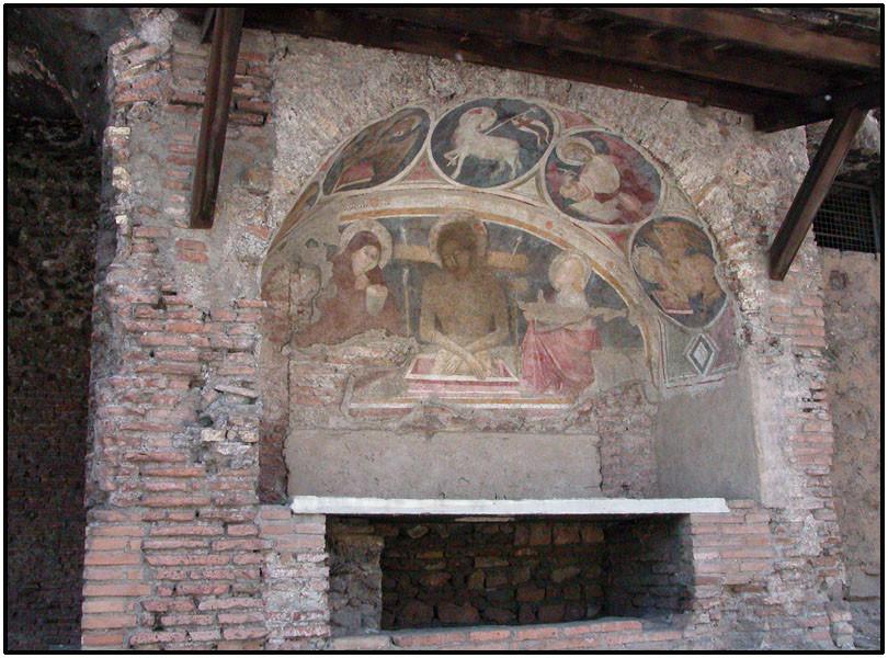 Фреска 13 в. в древней инсуле 2 в.