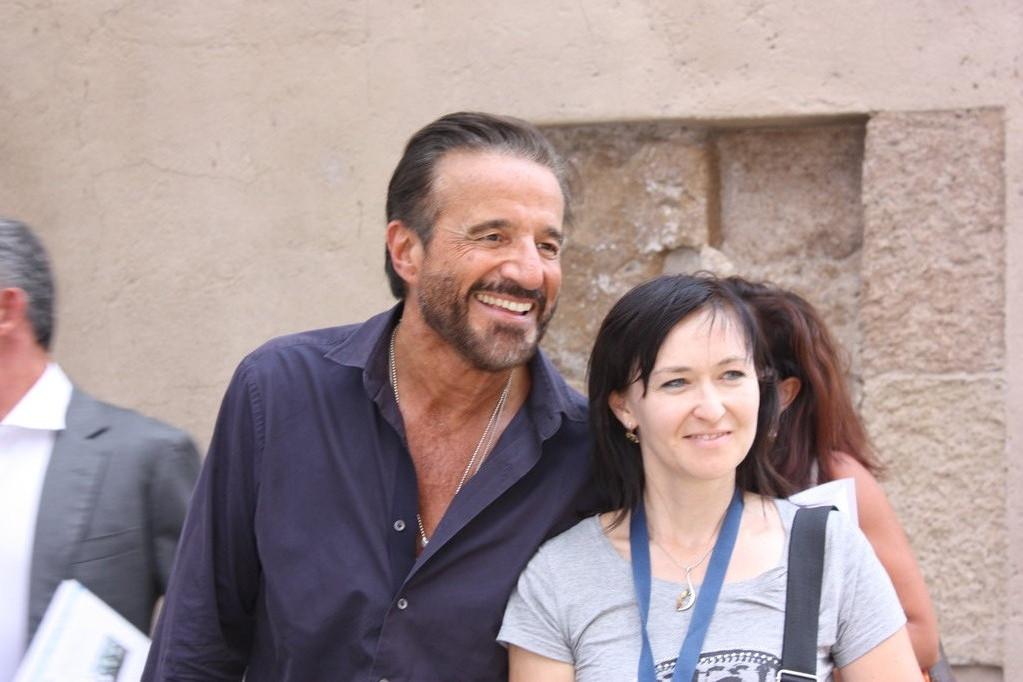 С итальянским актером Кристианом де'Сика