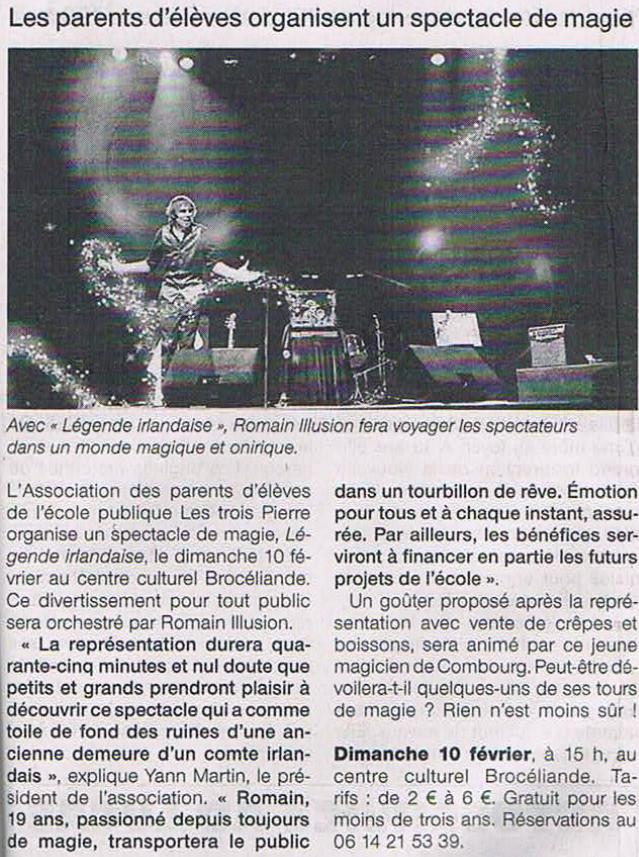 Ouest France Février 2013