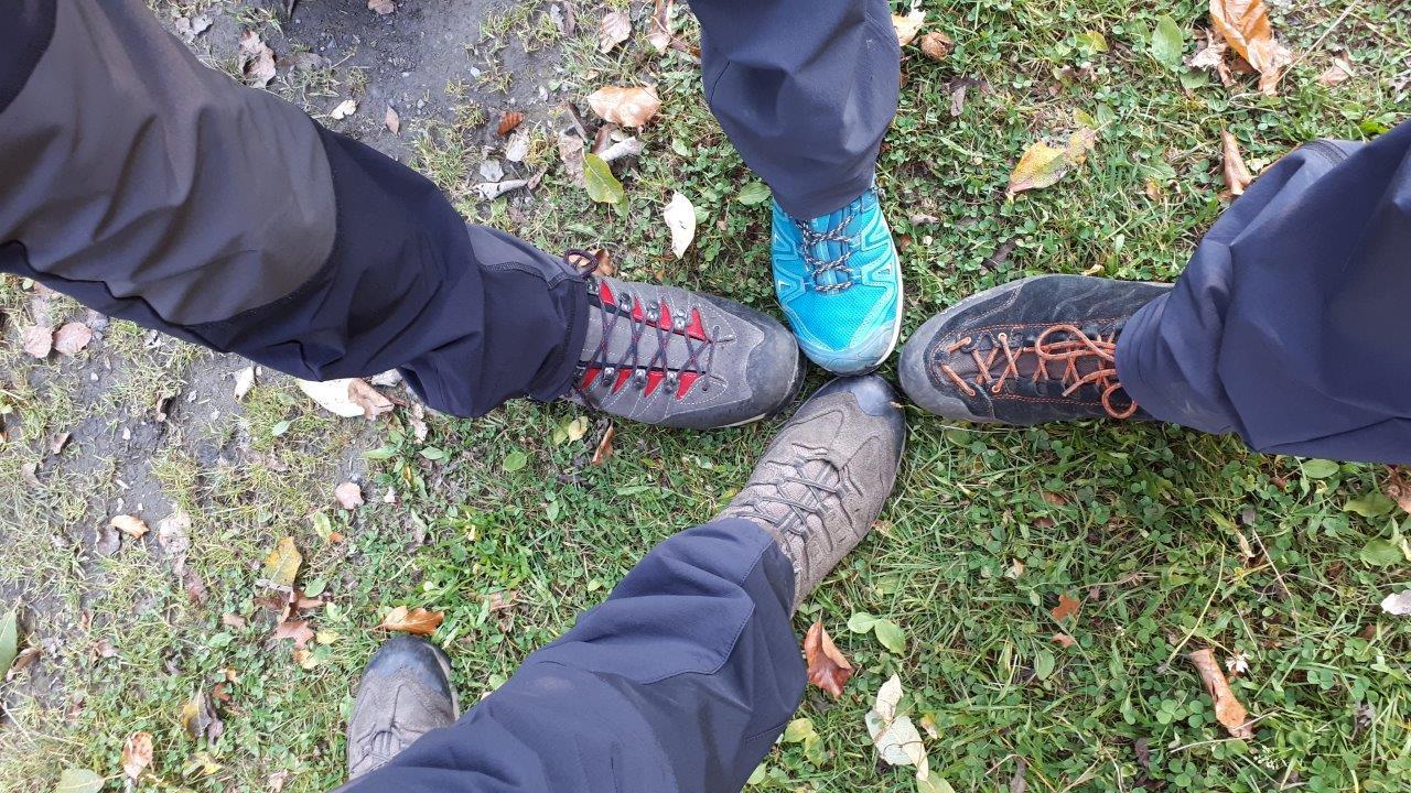 Ein Blick aufs Schuhwerk
