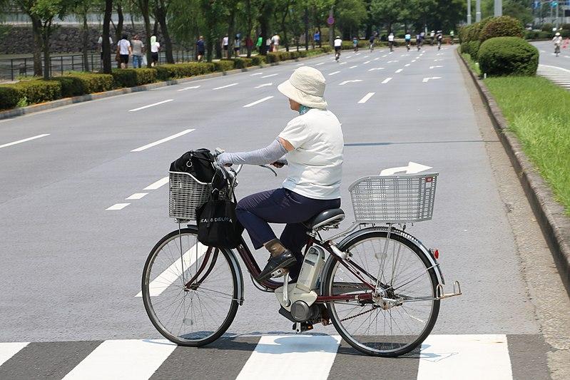Veille dame à vélo électrique VAE