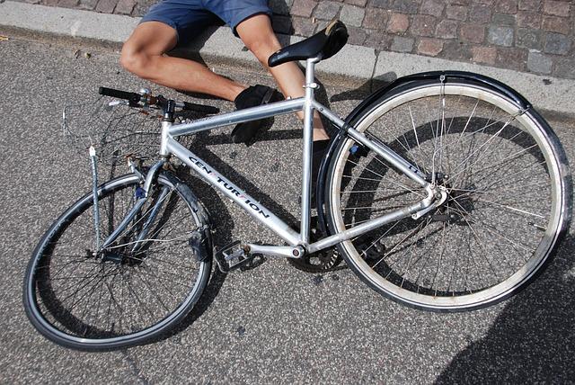 Accident à vélo