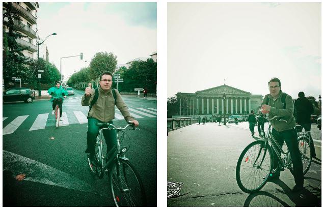 député à vélo